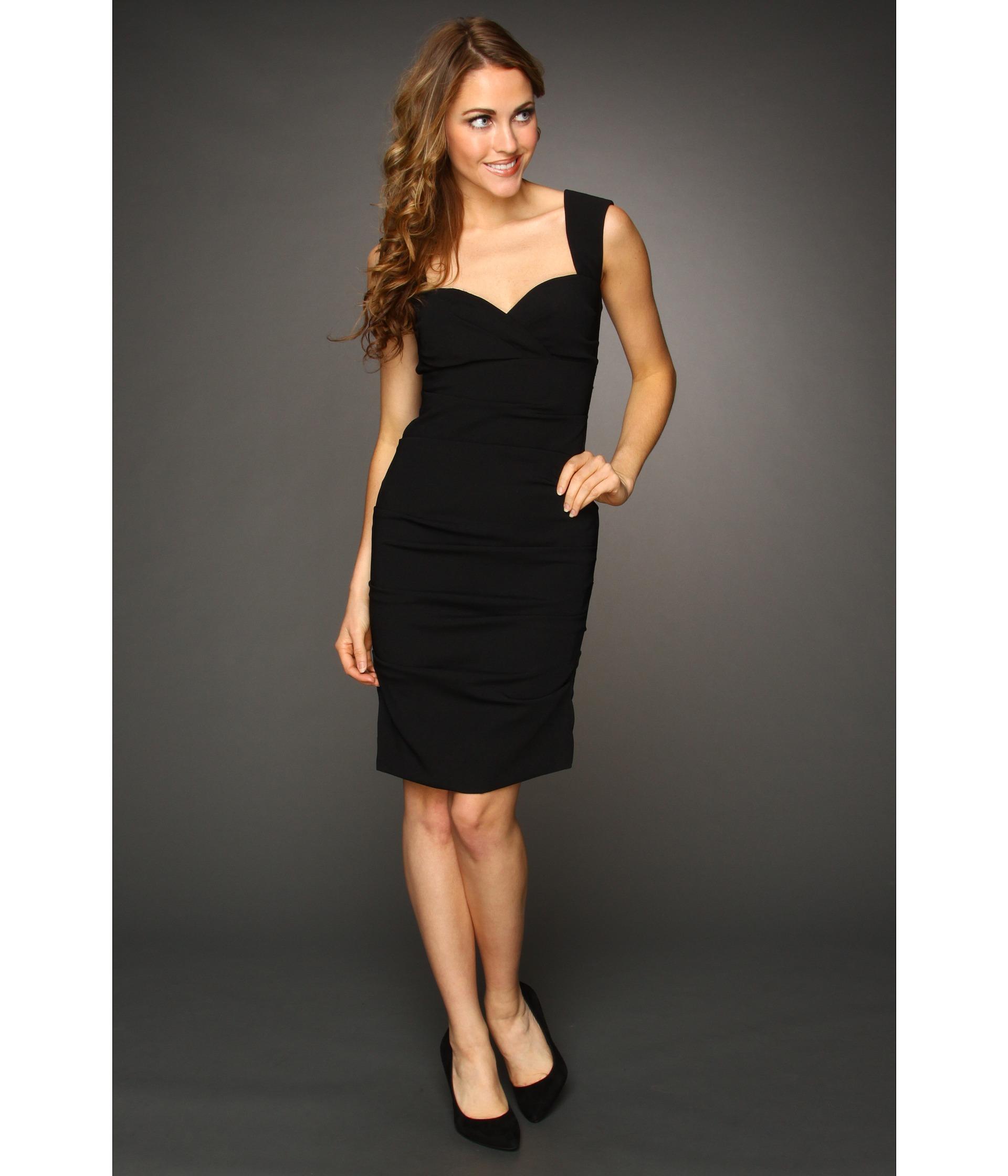 nicole miller satin crepe tucked dress $ 385 00 nicole